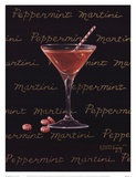 Peppermint Martini Art by Janet Kruskamp