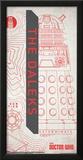 Doctor Who- Dalek Outline Prints