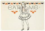 Alice in Wonderland - Eat Me Blechschild