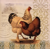 Chickens & Scrolls I Prints by  Miles Graf Collection