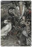 Alice in Wonderland - After the Caucus Race Blechschild