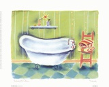Tub With Chair Art by Dona Turner