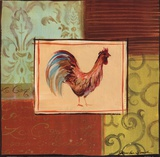 Patchwork Rooster III Prints by Jennifer Sosik