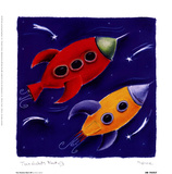 Two Rockets Blast Off Prints by Dona Turner