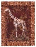 Lone Giraffe Posters by Kathleen Denis