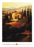 Green Hills of Tuscany II Poster by Max Hayslette