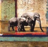Elefante del Serengeti Arte por Fischer Warnica