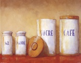 Kitchen Canisters Art by Simon Parr