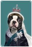 Pets Rock Queen Vic Blechschild