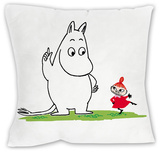 Moomin Troll and Little My Cushion Throw Pillow