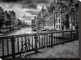 Amsterdam Gentlemen's Canal Impressão em tela esticada por Melanie Viola