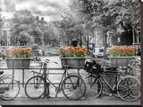 Typical Amsterdam - Panoramic View Impressão em tela esticada por Melanie Viola