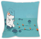 Moomintroll Fishing Cushion Throw Pillow
