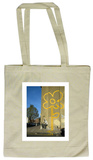 Double Yellow Lines Flower Tote Bag Sacola