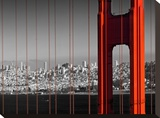Golden Gate Bridge Panoramic View Impressão em tela esticada por Melanie Viola