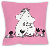 Pink Moomintroll and Snorkmaiden Cushion Cushion Throw Pillow