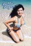 Bettie Page- Bikini & Tropical Beach Print