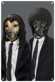 Pets Rock Hit Dogs Tin Sign