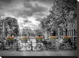 Typical Amsterdam Impressão em tela esticada por Melanie Viola