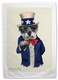 Pets Rock Uncle Sam Tea Towel Novelty