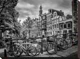 Amsterdam Flower Canal Impressão em tela esticada por Melanie Viola