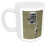 Man Hanging out of Window Mug Mug