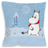 Moomintroll in the Snow Cushion Throw Pillow