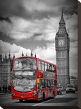 London Westminster Bridge Traffic Impressão em tela esticada por Melanie Viola