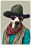 Pets Rock Cowboy Carteles metálicos