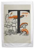 Alice in Wonderland - Mushroom Tea Towel Novelty