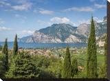 Lake Garda Panoramic View Impressão em tela esticada por Melanie Viola