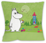 Moomintroll In Front of the Moominhouse Cushion Throw Pillow