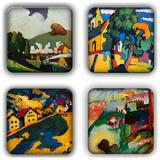 Wassily Kandinsky Coaster Set 6 Coaster