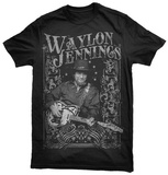 Waylon Jennings- All Star Portrait T-Shirts