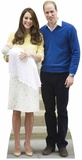 William, Kate, & Charlotte Cardboard Cutout Pappfigurer