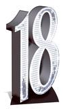 Party - Silver Number 18 Cardboard Cutout Silhouettes découpées en carton