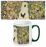 Gustav Klimt - Garden Path with Chickens Mug Krus