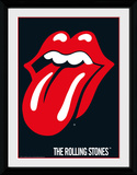 Rolling Stones Lips Collector-tryk