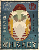 Fisherman VIII Old Salt Whiskey Art by Ryan Fowler
