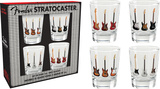 Fender Stratocaster Shot Glass Set Novelty