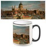 Giovanni Antonio Canaletto - London Thames St Pauls Catherdral Mug - Mug
