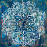 Mandala in Blue II Print by Danhui Nai