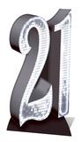 Party - Silver Number 21 Cardboard Cutout Silhouettes découpées en carton