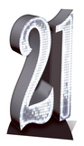 Party - Silver Number 21 Cardboard Cutout Pappfigurer