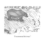 """I recommend the trout."" - New Yorker Cartoon Premium Giclee Print by Michael Crawford"