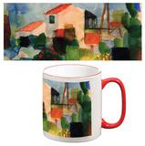 August Macke - The Bright House Mug - Mug