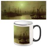 John Atkinson Grimshaw - Nightfall Down The Thames Mug Krus