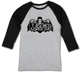 The Misfits- Batfiend Grey Cape (Raglan) T-Shirts