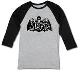 The Misfits- Batfiend Grey Cape (Raglan) - T shirt