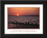 Serenity Prayer Ocean Beach Sunset Posters